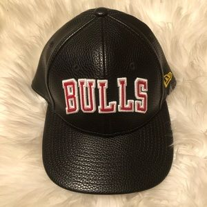 New Era PU Leather Chicago Bulls Snapback Cap New
